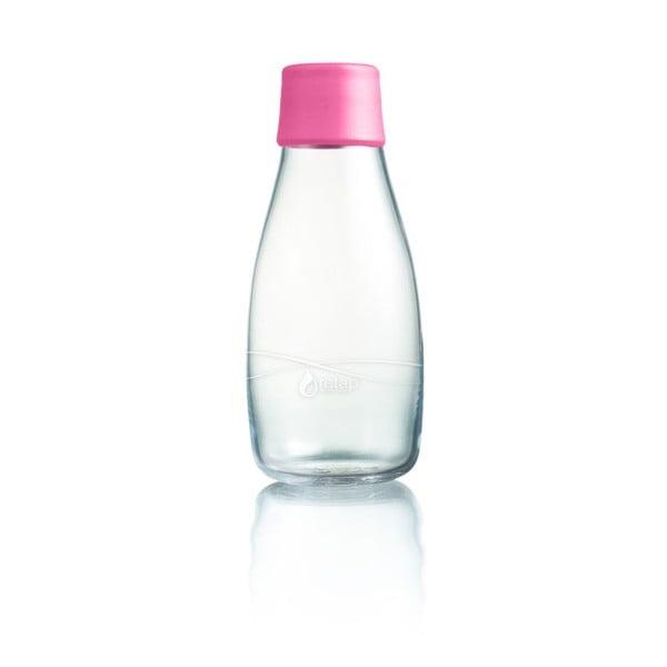 Világos rózsaszín üvegpalack élettartam garanciával, 300 ml - ReTap