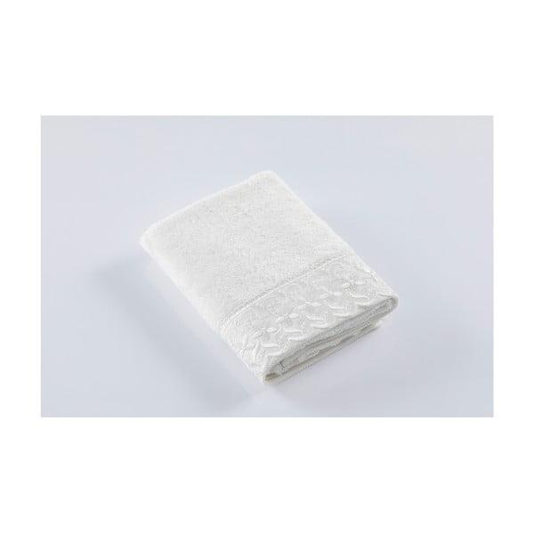 Bílý ručník z bavlny Bella Maison Drope, 50 x 90 cm