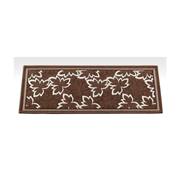 Hnědý vysoce odolný kuchyňský běhoun Webtappeti Maple Marrone,55x140cm