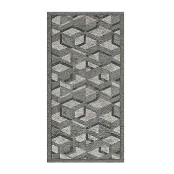 Traversă Floorita Hypnotik, 55 x 140 cm, gri-negru