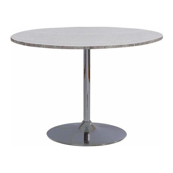 Jídelní stůl s deskou v dekoru betonu Støraa Terri, Ø110cm