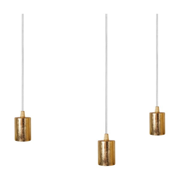 Tři závěsné kabely Bulb Attack, zlatá/bílá/bílá