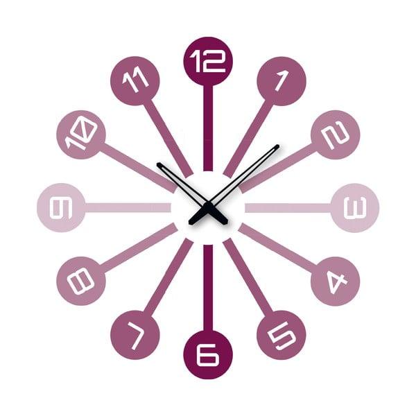 Samolepící hodiny Fialová čísla