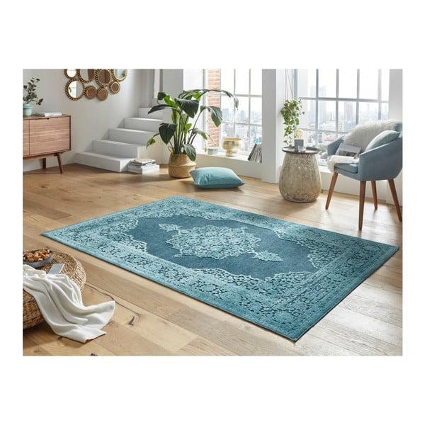 Modrý koberec Mint Rugs Shine Hurro, 200 x 300 cm