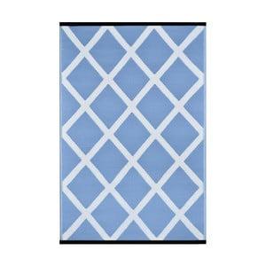 Modrobílý oboustranný venkovní koberec Green Decore Silenco, 120 x 180 cm