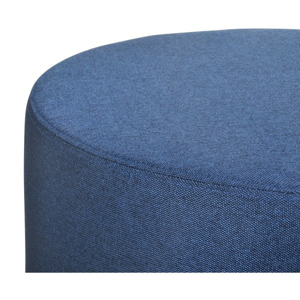Modrá stolička s detaily z bukového dřeva a odnímatelnou deskou Garageeight Molde, ⌀50cm