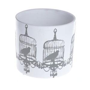 Keramický květináč Dark Grey Birds
