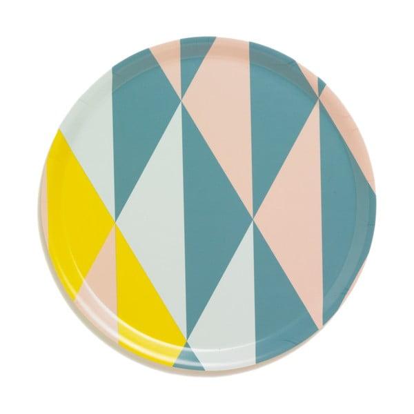 Tác s geometrickým vzorem, žlutý