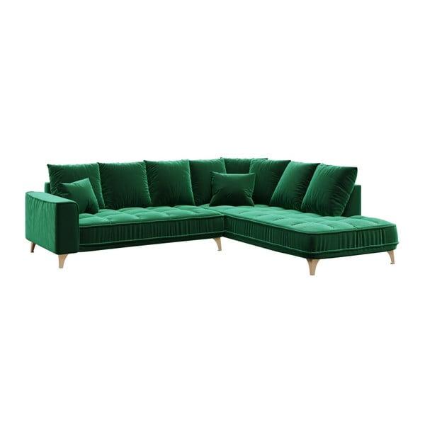 Chloe sötétzöld kanapé, jobb oldali - devichy