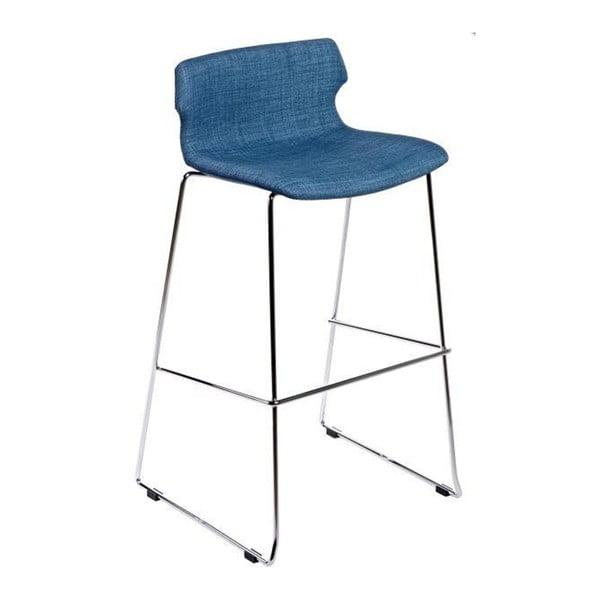 Modrá barová židle D2 Techno, čalouněná