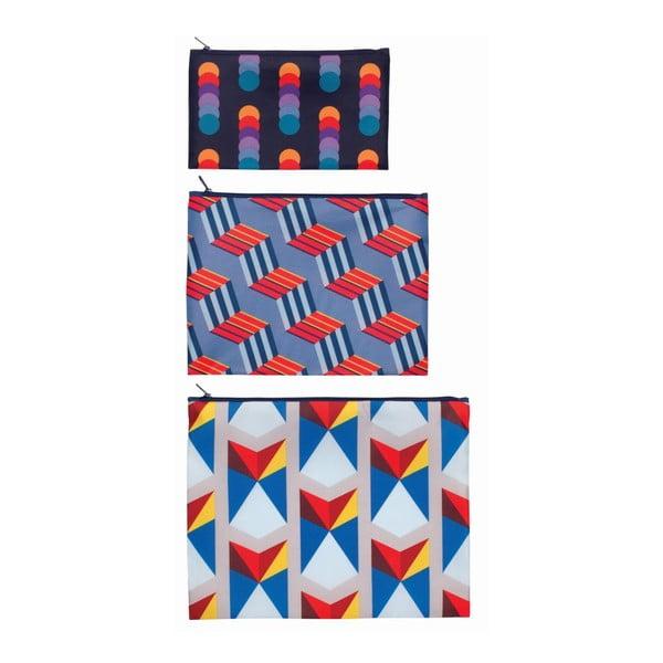 Sada 3 univerzálních taštiček Geometric