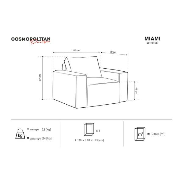 Fotoliu Cosmopolitan Design Miami, gri