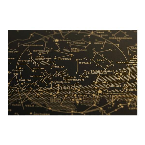 Plakát The Southern Sky Gold/Black, 50x70 cm
