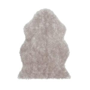 Covor din blană artificială Tekli, 70 x 100 cm, gri
