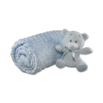 Pătură din bumbac pentru copii Aksu Mavi,110x90cm