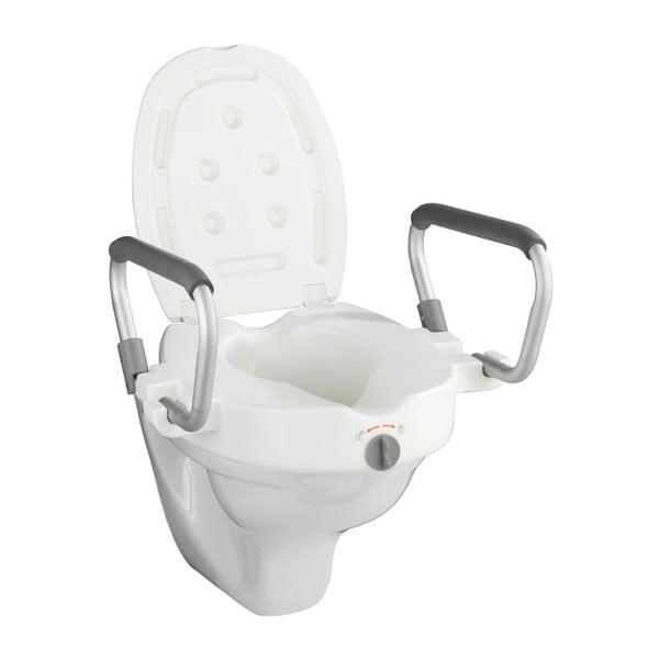 Zvýšené WC sedadlo s opierkami pre seniorov Wenko Secura, 47,5 × 55 cm