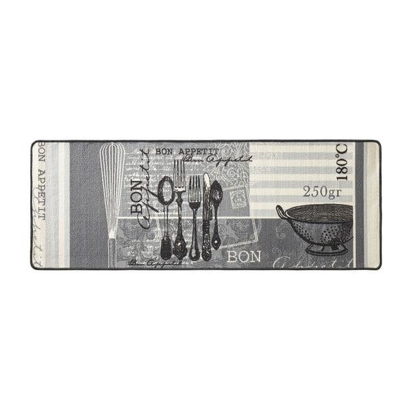Šedý kuchyňský běhoun HanseHomeAppetit, 67x180cm