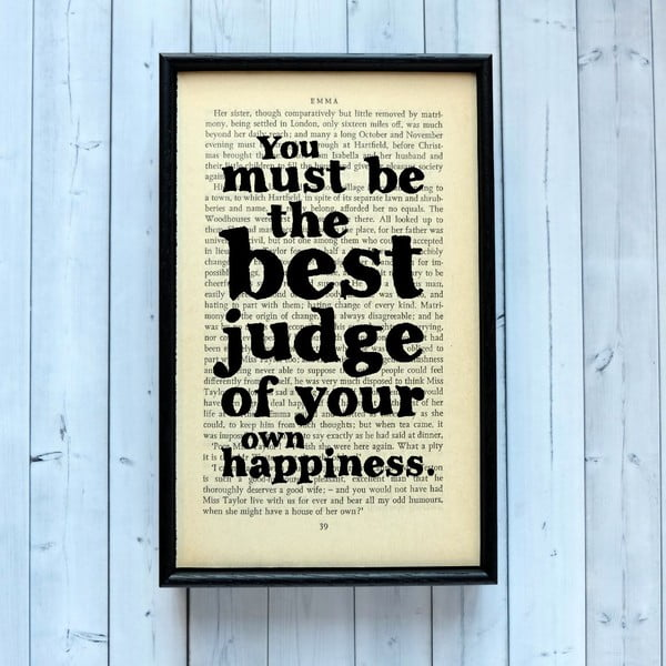 Plakát v dřevěném rámu Emma Happiness