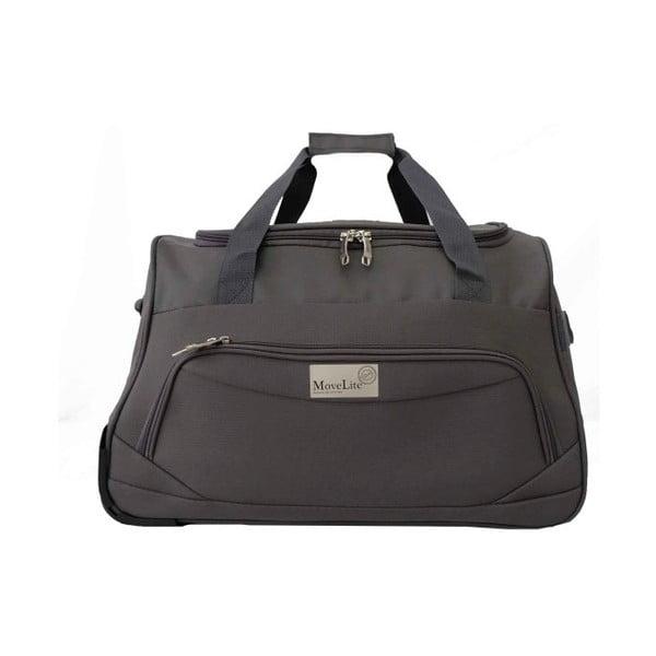 Šedá cestovní taška na kolečkách Hero Roulette,65l