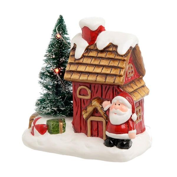 Vánoční keramická dekorace ve tvaru domečku InArt Santa House