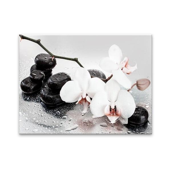 Tablou din sticlă Styler Pastel Orchids, 100 x 70 cm