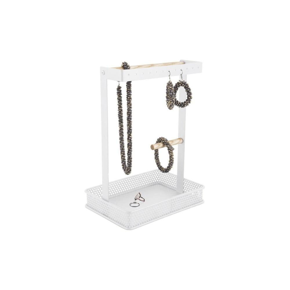 Bílý stojánek na šperky s dřevěnými detaily PT LIVING Merge Square PT LIVING