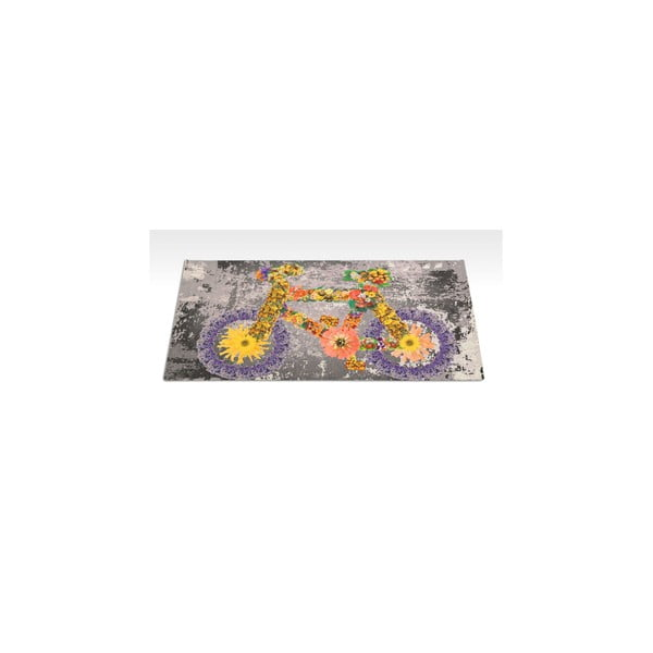 Vysoce odolný kuchyňský koberec Webtappeti Bike,60x140cm
