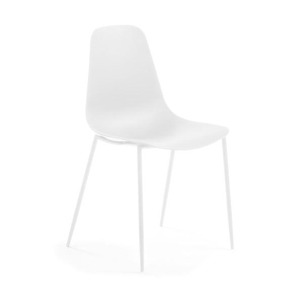 Biela jedálenská stolička La Forma Wassu