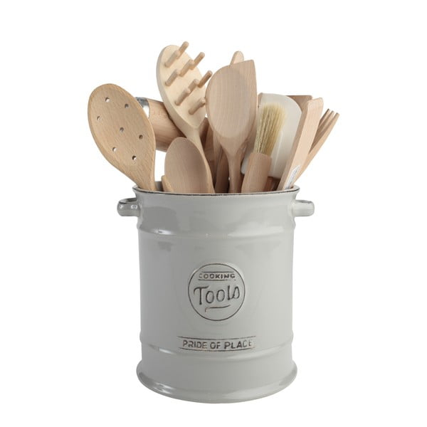 Recipient pentru ustensile bucătărie din ceramică T&G Woodware Pride of Place, gri