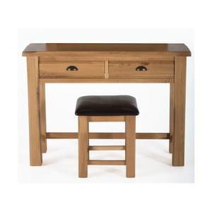 Toaletní stolek a stolička z dubového dřeva Vida Living Breeze