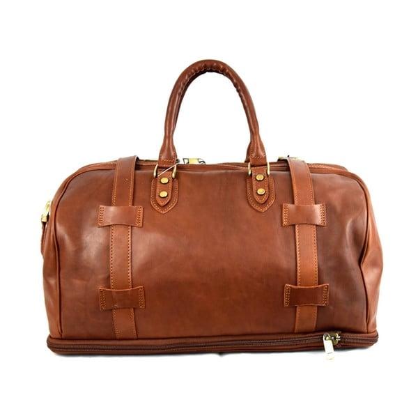 Kožená taška Santo Croce 82978bis Brown