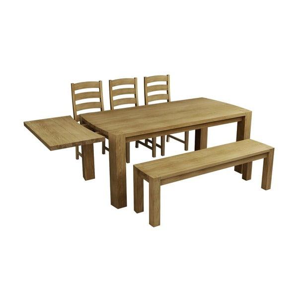 Stůl z dubového dřeva Fornestas Goliath, 180x90 cm