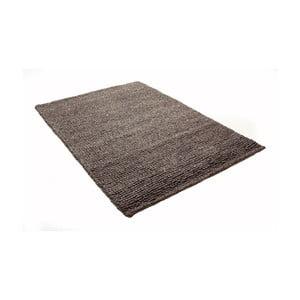 Hnědý koberec z vlny a bavlny Cotex, 140 x 200 cm