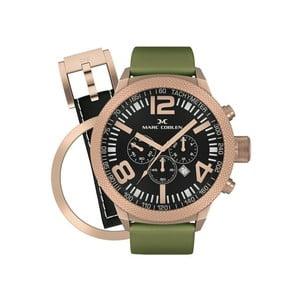 Pánské hodinky Marc Coblen s páskem a kroužkem navíc P39