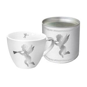 Hrnek z kostního porcelánu s vánočním motivem v dárkovém balení PPD Angel Fashion Platinum, 450 ml