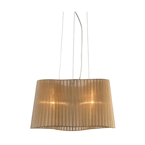 Hnědé závěsné světlo Markslöjd Vinsingso 46 cm
