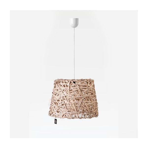 Stropní světlo Roll, 35x29 cm, hnědé
