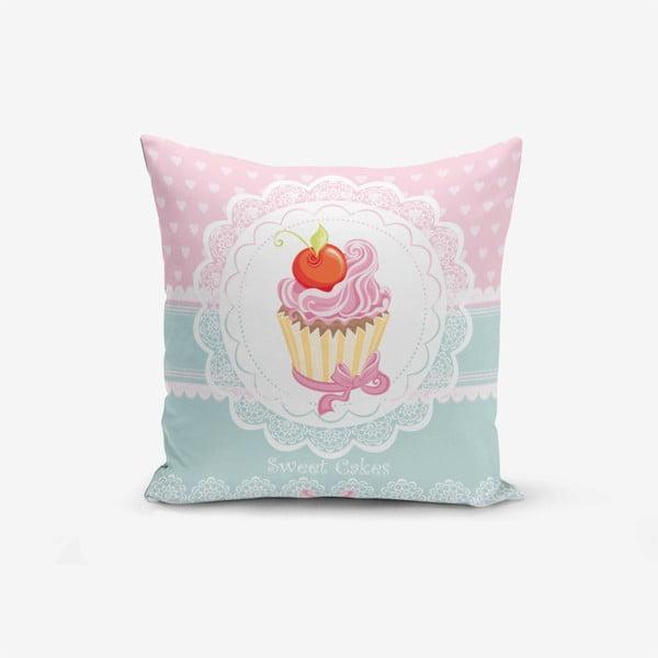 Povlak na polštář Minimalist Cushion Covers Cupcakes Pink Blue, 45x45cm