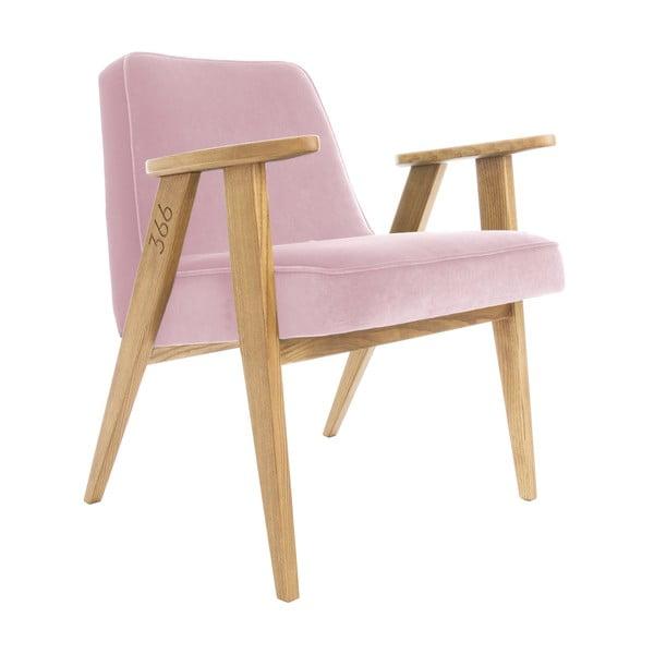 Křeslo 366 Concept Velvet Powder Pink