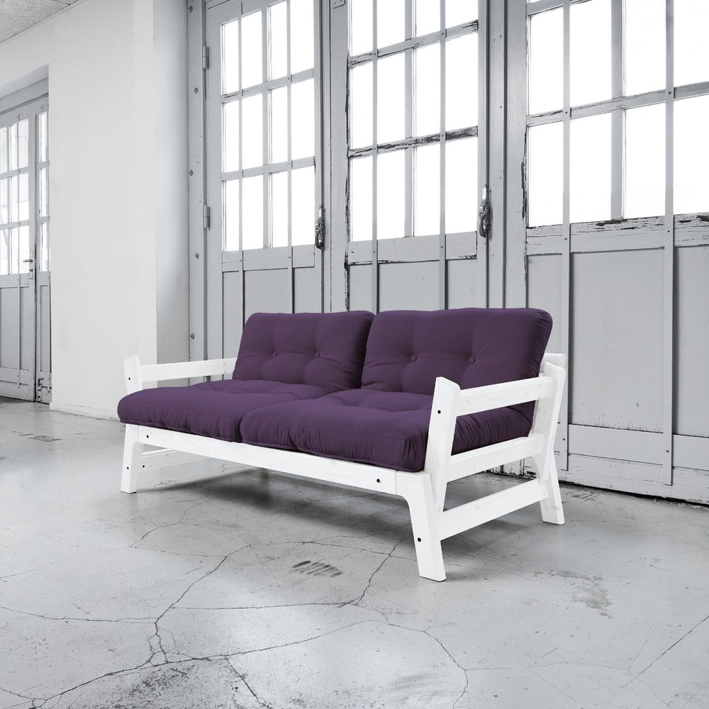 Rozkládací pohovka Karup Step White/Purple