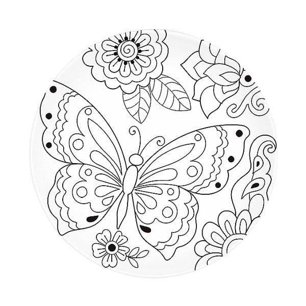 Farfurie din porțelan pentru pictat Santiago Pons Art & Color Butterfly