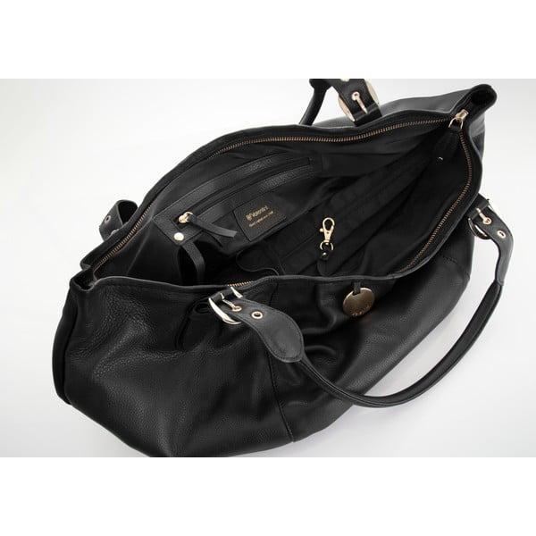 Kožená kabelka Valentini 416, černá