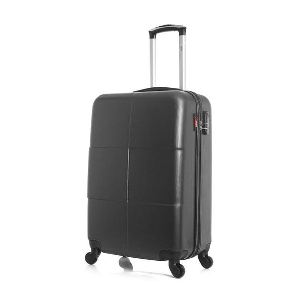 Tmavě šedý cestovní kufr ve na kolečkách Hero Coronado, 61 l
