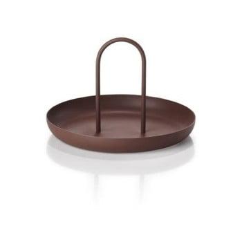 Tavă din metal pentru servire Zone Singles, ø 20 cm, maro