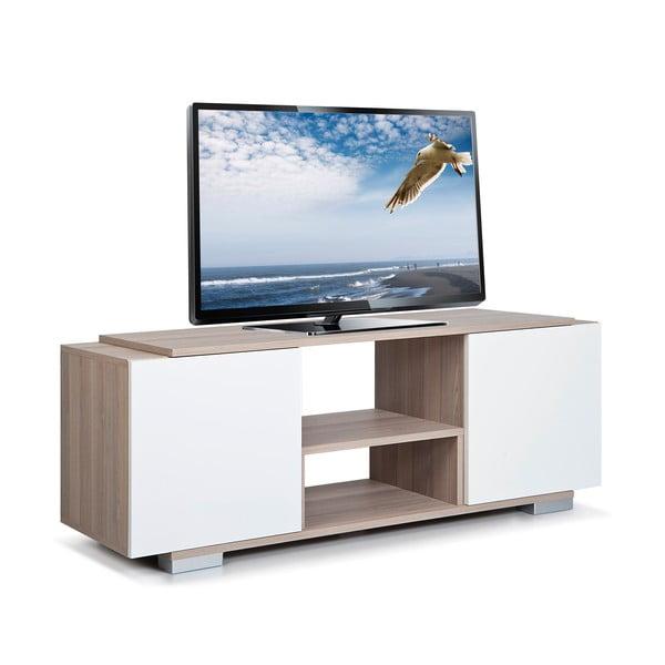 Televizní stolek Pera, bílý/dub cordoba