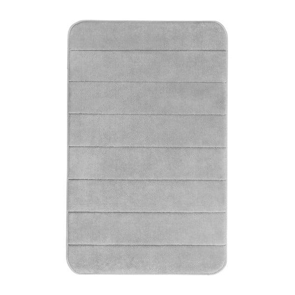 Světle šedá koupelnová předložka s paměťovou pěnou Wenko, 80x50cm