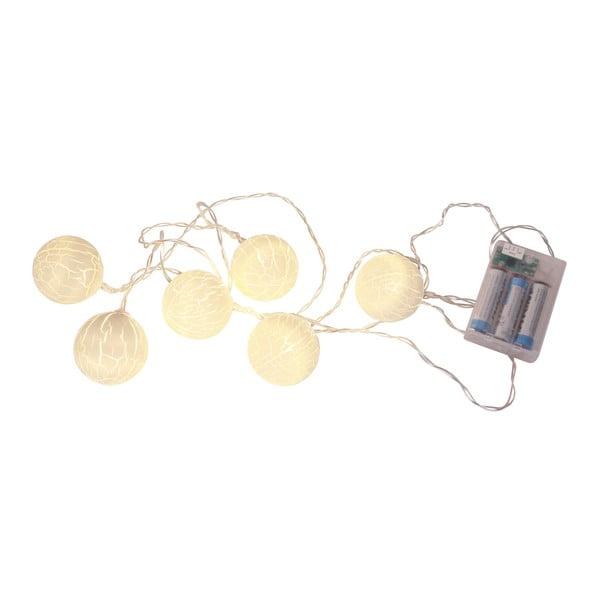 Světelný řetěz Crisp 150 cm, bílý