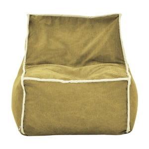 Okrový modulový sedací vak s krémovým lemem Poufomania Funky