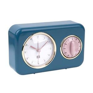 Ceas cu timer de bucătărie PT LIVING Nostalgia, albastru