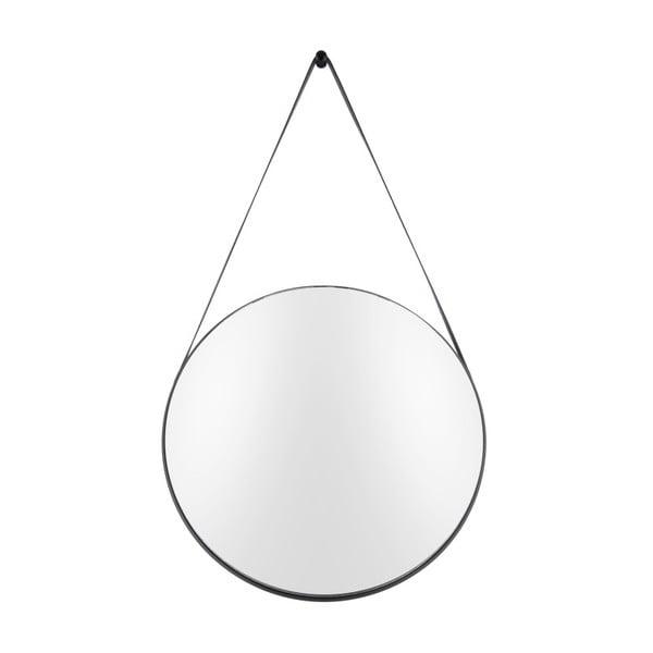 Nástěnné zrcadlo s rámem v černé barvě PT LIVING Balanced, ø47 cm